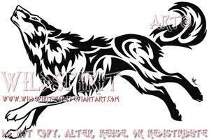 Fierce Howling Wolf Tattoo by WildSpiritWolf