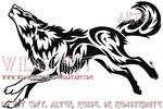 Fierce Howling Wolf Tattoo