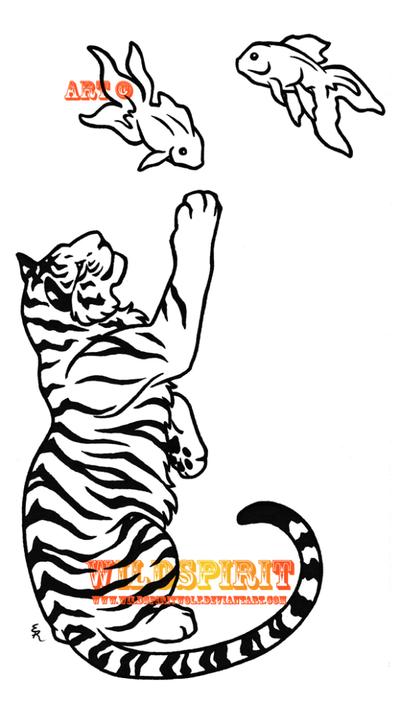 Tiger And Goldfish Tattoo by *WildSpiritWolf on deviantART