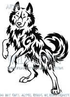 Cheeky Wise Wolf Tattoo by WildSpiritWolf