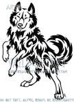 Cheeky Wise Wolf Tattoo