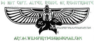 Bastet And Anubis Winged Tatto