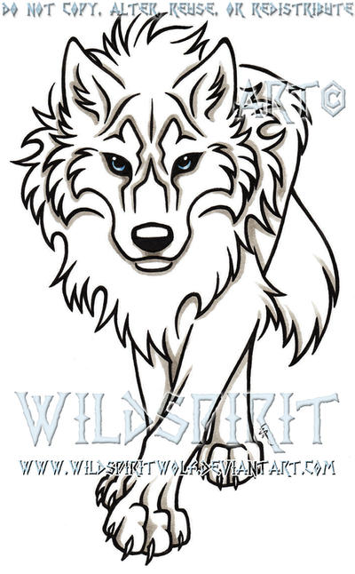 Blue Eyed Stalking Wolf Tattoo By WildSpiritWolf On DeviantArt