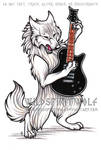 Wolf And Guitar Commission