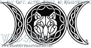 Wolven Triple Goddess Tattoo by WildSpiritWolf