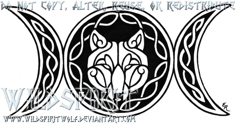 Group Of Triple Goddess Tatto Design
