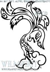 Starry Nine Tailed Fox Tattoo by WildSpiritWolf