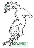 Earth Wolf Tattoo by WildSpiritWolf