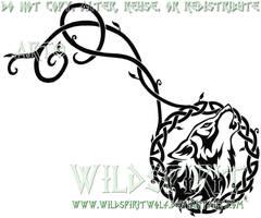 Celtic Wolf And Vine Tattoo by WildSpiritWolf