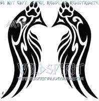 Pawprint Wings Design Commish by WildSpiritWolf