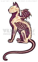 Death Cat Color Tattoo by WildSpiritWolf