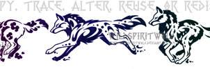 Elemental Wolf Set Tattoo