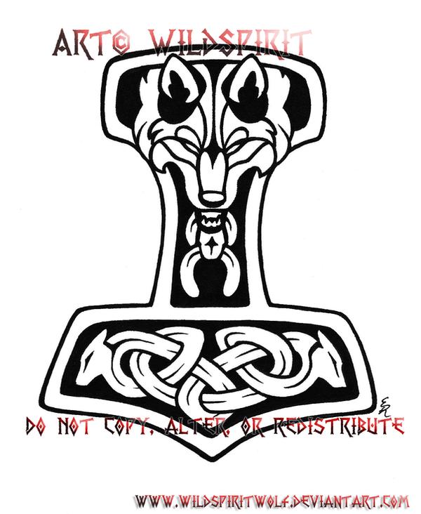 Wolven Thor S Hammer Tattoo By Wildspiritwolf On Deviantart