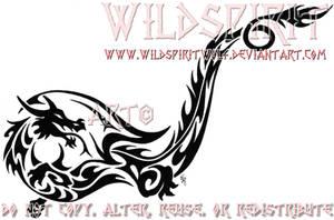 Tribal Dragon Ankle Tattoo by WildSpiritWolf