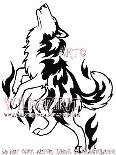 flame husky tribal tattoo by wildspiritwolf on deviantart. Black Bedroom Furniture Sets. Home Design Ideas