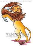 Lion And Eagle Color Tattoo
