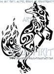 Dancing Fox Wind Tribal Tattoo