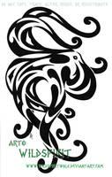 Tribal Octopus Tattoo by WildSpiritWolf