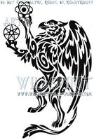 Gryphon And Orbs Tribal Tattoo by WildSpiritWolf
