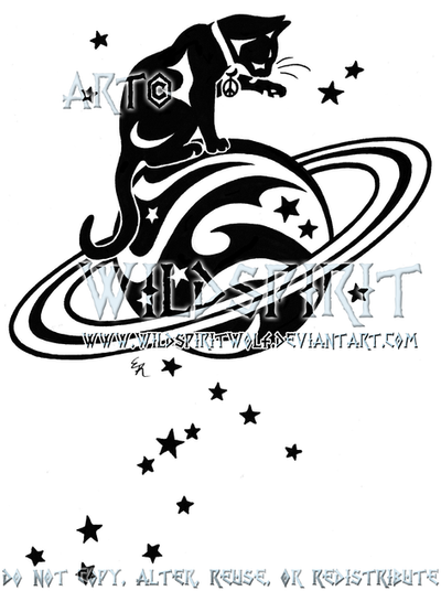 starry cat and saturn logo by wildspiritwolf on deviantart