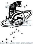 Starry Cat And Saturn Logo
