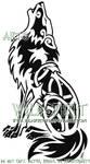 Heraldic Howling Wolf Logo by WildSpiritWolf