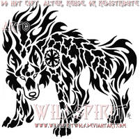Earth And Fire Wolf Tattoo by WildSpiritWolf