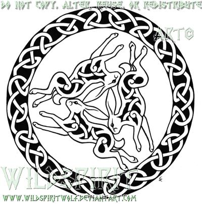 Triple Hare Celtic Tattoo By Wildspiritwolf On Deviantart