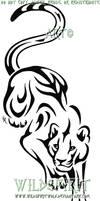 Stalking Panther Tattoo by WildSpiritWolf