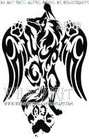 Pawprint Winged Wolf Tattoo by WildSpiritWolf