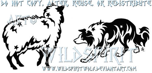 Border Collie And Sheep Tattoo by WildSpiritWolf