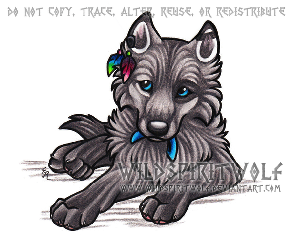 Wolf Pups Anime Drawings