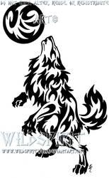 Werewolf And Moon Tattoo by WildSpiritWolf