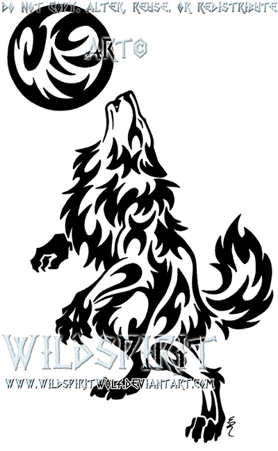 the gallery for gt werewolf tribal tattoo designs