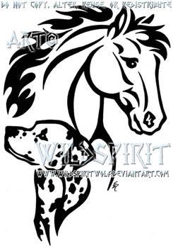 Horse And Dalmatian Tattoo