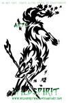 Wolf Mage Tribal Tattoo