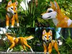 Running Latchme Wolf Sculpture