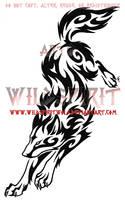 Wolf Leap Tribal Swirl Tattoo by WildSpiritWolf