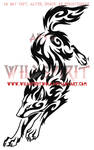 Wolf Leap Tribal Swirl Tattoo