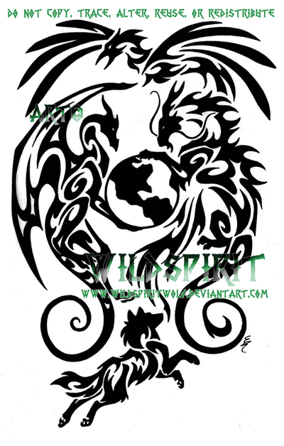 earth tattoos. Animals And Earth Tattoo by