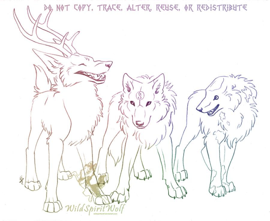 Three Canine Character Sketch By WildSpiritWolf On DeviantArt