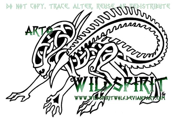 Knotwork Alien Tattoo by WildSpiritWolf on deviantART