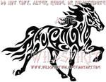 Tribal Icelandic Horse Tattoo