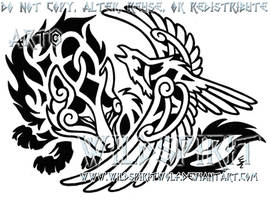 Raven's Embrace Tattoo by WildSpiritWolf