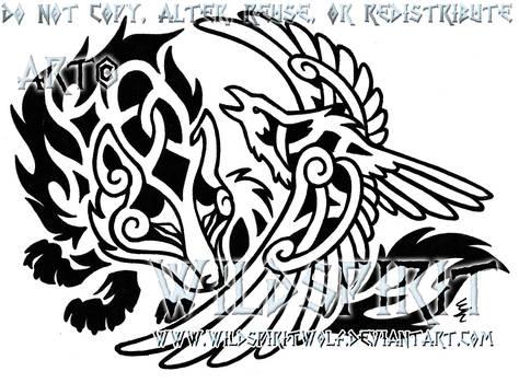 Raven's Embrace Tattoo