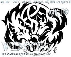 Knotwork Wolf Lovers Tattoo by WildSpiritWolf