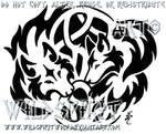 Knotwork Wolf Lovers Tattoo
