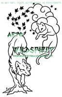 Earth Wolf Heaven Cat LA by WildSpiritWolf