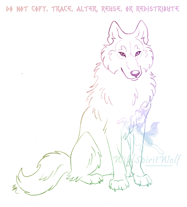 How To Draw Anime Wolves Anime Wolves Step By Step: Sitting Wolf Sketch By WildSpiritWolf On DeviantArt