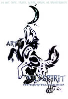 Space Tribal Wolf Tattoo by WildSpiritWolf
